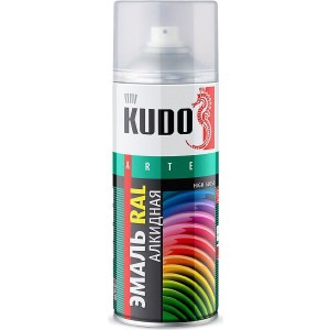 Эмаль алкидная аэрозоль KUDO RAL 6005 зеленый мох 520мл. (6)ku-06005