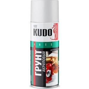 Грунт акриловый аэрозоль KUDO белый 520мл. (12)ku-2104