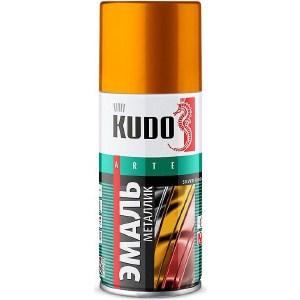 Эмаль аэрозоль KUDO металлик золото 210мл. (12)ku-1028.1