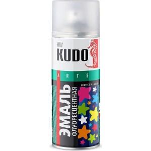 Эмаль флуорисцентная аэрозоль KUDO оранжево-красная 520мл. (6)ku-1206