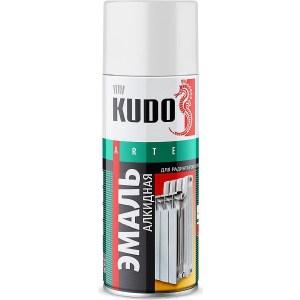Эмаль алкидная аэрозоль KUDO для радиаторов белая 520мл. (6)ku-5101