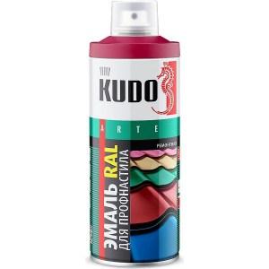 Эмаль аэрозоль KUDO для профнастила ral 3005 винно-красный 520мл. (6)ku-03005-r