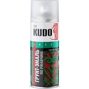 Грунт-эмаль аэрозоль KUDO по ржавчине RAL 6002 зеленая 520мл. (6)ku-316002