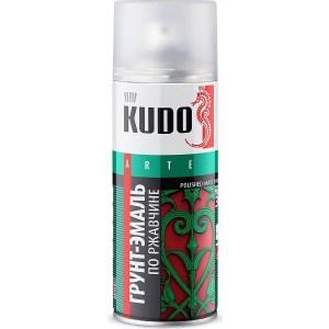 Грунт-эмаль аэрозоль KUDO по ржавчине RAL 7042 серая 520мл. (6)ku-317042