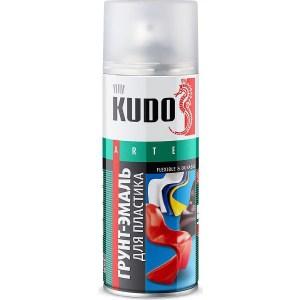 Грунт-эмаль аэрозоль KUDO для пластика RAL 9005 черная 520мл. (12)ku-6002