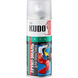 Грунт-эмаль аэрозоль KUDO для пластика RAL 1021 желтая 520мл. (12)ku-6007