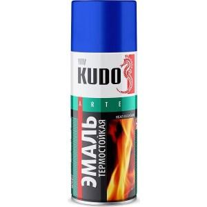 Эмаль термостойкая аэрозоль KUDO серебристая 520мл. (12)ku-5001 solo1 с