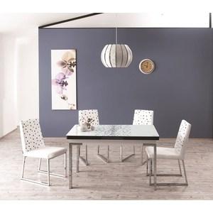 Комплект кухонный AlwaysSTAR Стол M21 white, 4 стула S21 white halojaju white