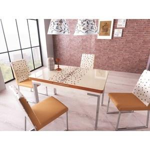 Комплект кухонный AlwaysSTAR Стол M21 cream, 4 стула S21 cream