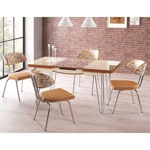 Комплект кухонный AlwaysSTAR Стол M22 cream, 4 стула S22 cream