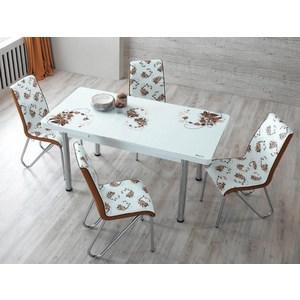 Комплект кухонный AlwaysSTAR Стол M28 brown, 4 стула S28 brown паровая швабра ariete 2706