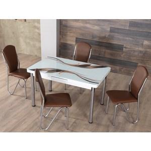 Фотография товара комплект кухонный AlwaysSTAR Стол M43 brown, 4 стула S43 brown (730649)
