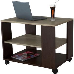 Стол журнальный Мебелик BeautyStyle 5 темно-коричневый/сонома без стекла