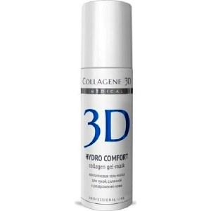 Medical Collagene 3D Гель-маска для лица HYDRO COMFORT с аллантоином, для раздраженной и сухой кожи 30 мл гель medical collagene 3d gel exfoliant expert pure