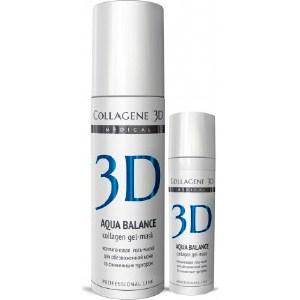 Medical Collagene 3D Гель-маска для лица AQUA BALANCE с гиалуроновой кислотой, восстановление тургора и эластичности кожи 130 мл medical collagene 3d гель контур для глаз eye contour gel с янтарной кислотой 30 мл