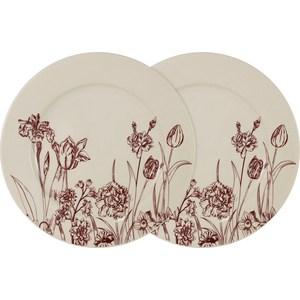 Набор из 2-х обеденных тарелок LF Ceramic Эдем (AL-120E2257-O-LF) банка для сыпучих продуктов печенье lf ceramic эдем al 380g0059 lf