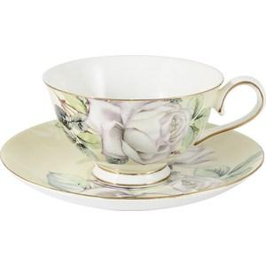 Чашка с блюдцем Colombo Белые розы (C2-CS-K6121)