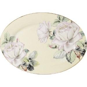 Блюдо овальное Colombo Белые розы (C2-OP-12-K6121)