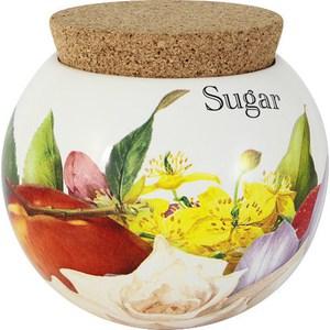 Банка для сыпучих продуктов (сахар) Ceramiche Viva Фреско (CV2-T08-97048-AL) ceramiche viva яблоки и камелии cv2 48144 al