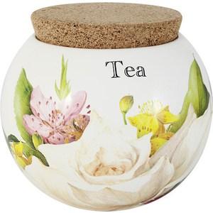 Банка для сыпучих продуктов (чай) Ceramiche Viva Фреско (CV2-T08-99048-AL) ceramiche viva яблоки и камелии cv2 48144 al