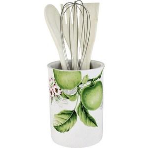 Банка-подставка с кухонными инструментами Imari Зеленые яблоки (IM55002-A2211AL) набор для специй зеленые яблоки 1192724
