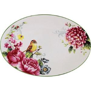 Блюдо овальное Imari Цветы и птицы (IMC1185-A2210AL)