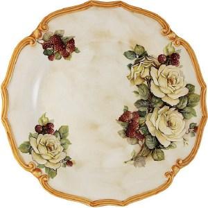 Блюдо круглое LCS Роза и малина (LCS039-RM-AL)