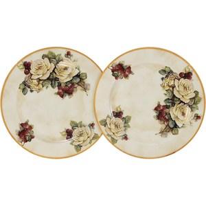 Набор из 2-х десертных тарелок LCS Роза и малина (LCS353PF-RM-AL) банка для сыпучих продуктов кофе lcs роза и малина lcs670plc rm al