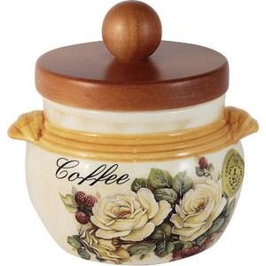 Банка для сыпучих продуктов (кофе) LCS Роза и малина (LCS670PLC-RM-AL) банка для сыпучих продуктов lcs старая тоскана кофе
