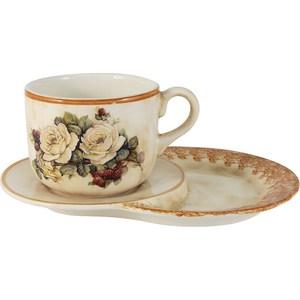 Чашка на маленьком подносе LCS Роза и малина (LCS933TP_N-RM-AL)