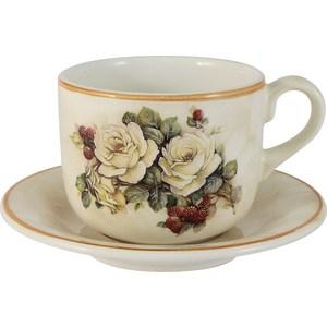 Чашка с блюдцем LCS Роза и малина (LCS933_T_P-RM-AL)