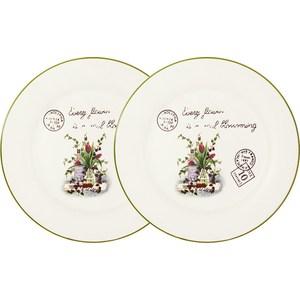 Набор из 2-х обеденных тарелок Anna Lafarg LF Ceramics Букет (AL-120E2257-3-B-LF) банка для сыпучих продуктов чай anna lafarg lf ceramics букет al 175f6294 b lf