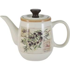 Заварочный чайник 1.0 л LF Ceramic Оливки (LF-280F9476-AL) банка для сыпучих продуктов печенье lf ceramic эдем al 380g0059 lf