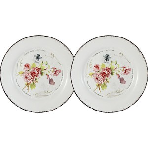 Набор из 2-х десертных тарелок LF Ceramic Розы (LF-55E2258-4-AL)