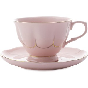 Чашка с блюдцем Maxwell & Williams Свежее дыхание розовая (MW580-QV6520)