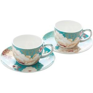 Набор: 2 чашки с блюдцами Maxwell & Williams Кимоно бирюза (MW637-PK0401)