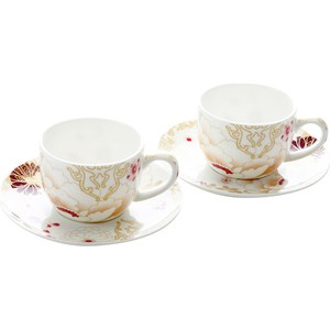 Набор: 2 чашки с блюдцами Maxwell & Williams Кимоно белый (MW637-PK0407)