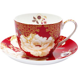 Чашка с блюдцем Maxwell & Williams Кимоно красный (MW637-PK0423)
