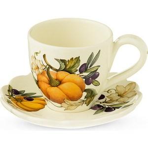 Чашка с блюдцем Nuova Cer Тыква (NC7417-ODN-AL) заварочный чайник 1 0 л nuova cer тыква nc7360 odn al