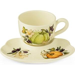 Чашка с блюдцем Nuova Cer Тыква (NC7960-ODN-AL) заварочный чайник 1 0 л nuova cer тыква nc7360 odn al
