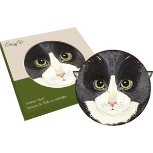 Подставка керамическая Easy Life (R2S) Кошки чёрная (R2S1551_MEOW_1-AL)