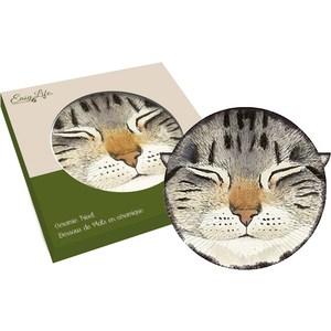 Подставка керамическая Easy Life (R2S) Кошки серая (R2S1551_MEOW_3-AL)