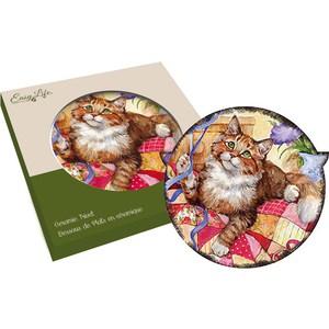 Подставка керамическая Easy Life (R2S) Кошки рыжая с лентой (R2S1551_MEOW_4-AL)