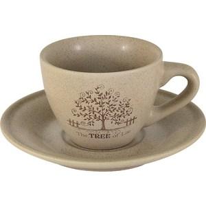 Чашка с блюдцем Terracotta Дерево жизни (TLY314S2-TL-AL) салатник terracotta дерево жизни диаметр 22 см