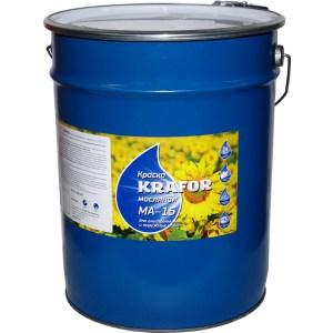 Краска масляная KRAFOR МА-15 синяя 25кг. грунт гф 021 серый krafor 20кг