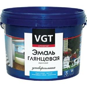 Эмаль универсальная VGT ВД-АК-1179 ВГТ глянцевая супербелая 10кг. эмаль вд ак 1179 перламутр серебристо белая вгт 0 23кг