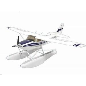 Радиоуправляемый самолет Art-Tech Cessna Blue 182 400 Class с лыжами 2.4G шлем tech team plasma 550 m blue white