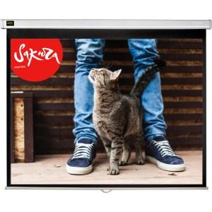 Экран для проектора Sakura 220x220 Wallscreen 1:1 настенно-потолочный 123''