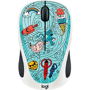 Мышь Logitech M238 Doodle Collection BAE-BEE BLUE цена