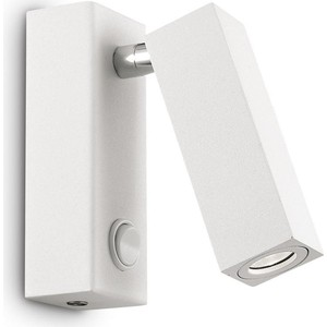 Светодиодный спот Ideal Lux Page AP1 Square Bianco бра odeon light kamun 2843 1w